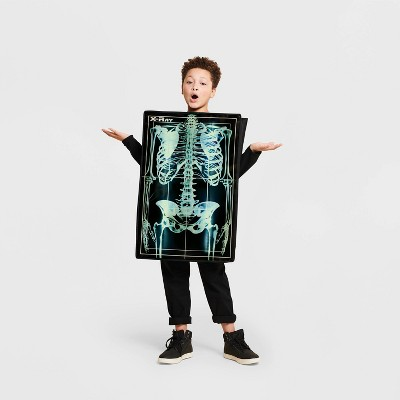 Adult Light Up X-Ray Skeleton Halloween Costume One Size - Hyde & EEK! Boutique™