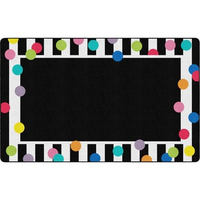 """7'6""""x11' Rectangle Indoor and Outdoor Polka Dots Nylon Accent Rug Multicolored - Flagship Carpets"""