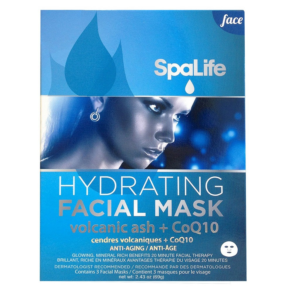 SpaLife Hydrating Facial Mask - 3 pack