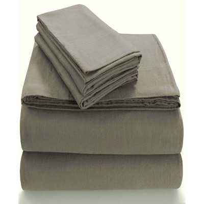 Queen Extra Deep Pocket Solid Sheet Set Taupe - Tribeca Living