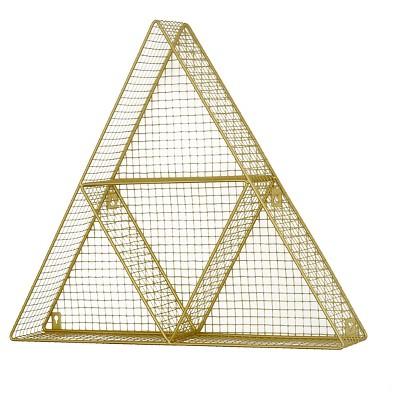"24""x21"" Triangle Wire Wall Decor Shelf Gold - Pillowfort™"
