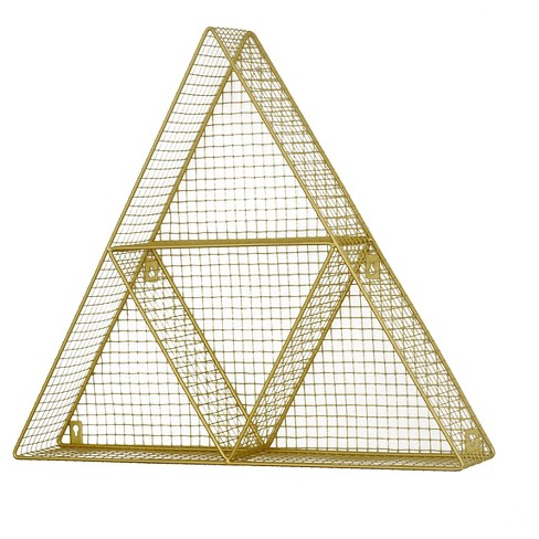 "Triangle Wire Wall Dcor Shelf (24""x21"") Gold - Pillowfort™ - image 1 of 2"