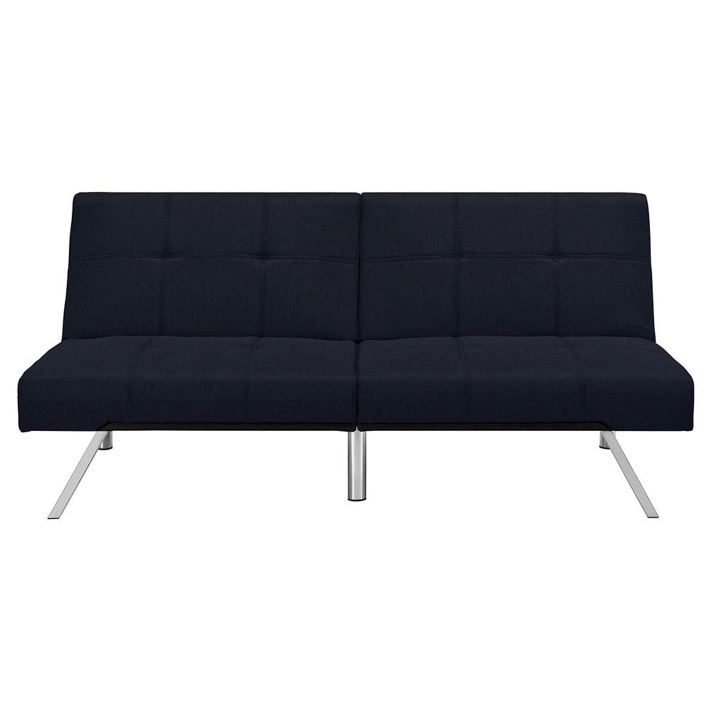 Layton Linen Futon - Navy (Blue) - Dorel Home Products