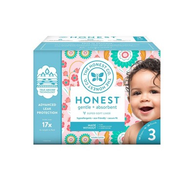 The Honest Company Flower Child Club Box Disposable Diapers - Size 3 (68ct)