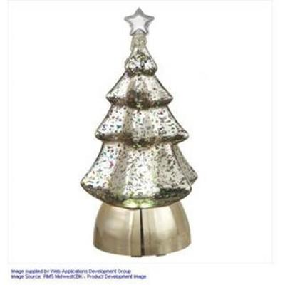 "Ganz 8.5"" Pre-Lit Silver Christmas Tree Tabletop Decor"