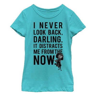 Girl's The Incredibles Edna Mode Never Look Back T-Shirt