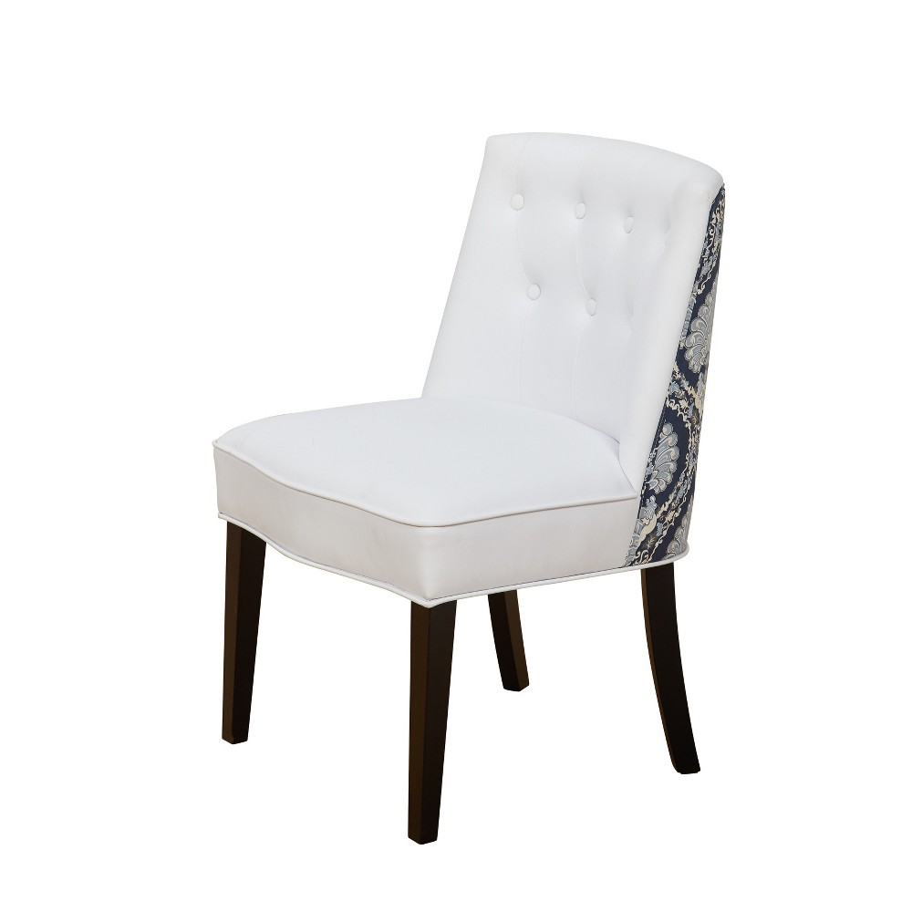 Veronica Accent Chair - White/Blue - Buylateral