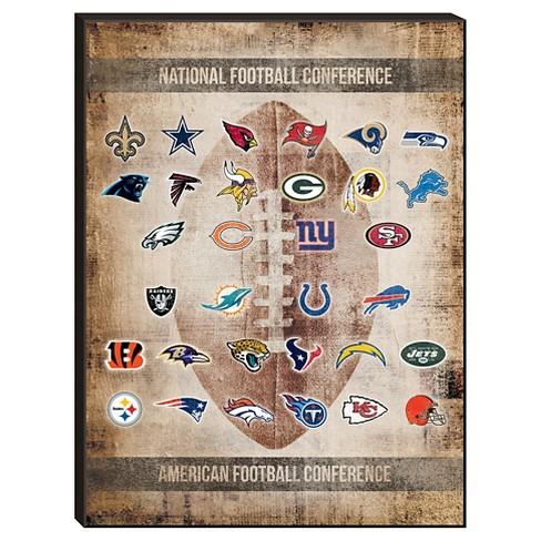 NFL Team Logos Wall Art : Target