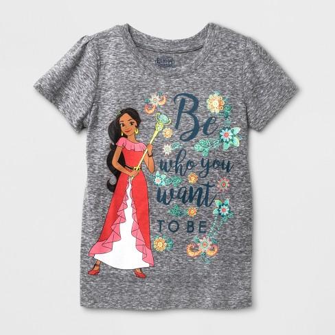 Tops & T-shirts Girls' Clothing (newborn-5t) Disney Elena Of Avalor Graphic Toddler Top Short Ruffled Bottom 5t