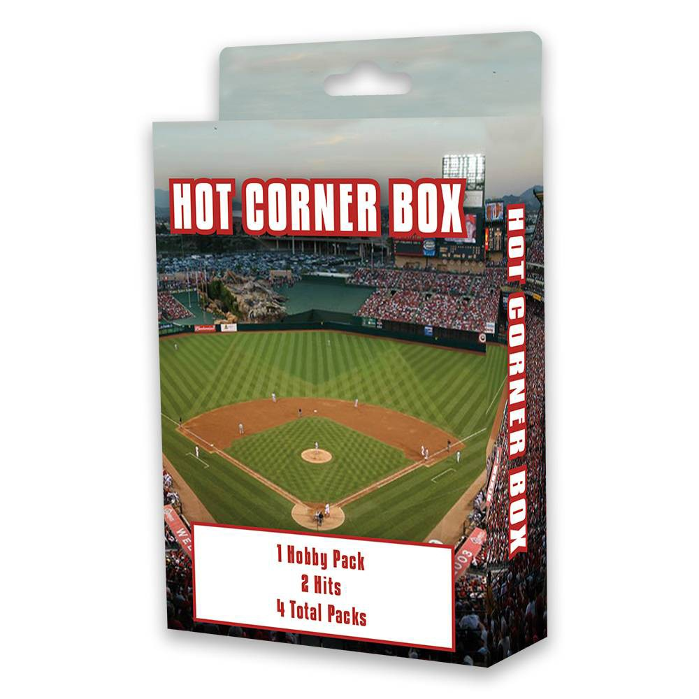 MLB Collectible Trading Cards Take your baseball card collection to the next level with this MLB Collectible Trading Cards Hot Corner Box. This MLB trading cards box contains four packs, including one hobby pack and two  hits  packs — giving you the opportunity to boost your collection with highlight cards, holographic cards, old-school cards and more. This baseball cards box is great for collectors young and old, making it a versatile option for gift-giving and personal collection. Gender: Unisex.