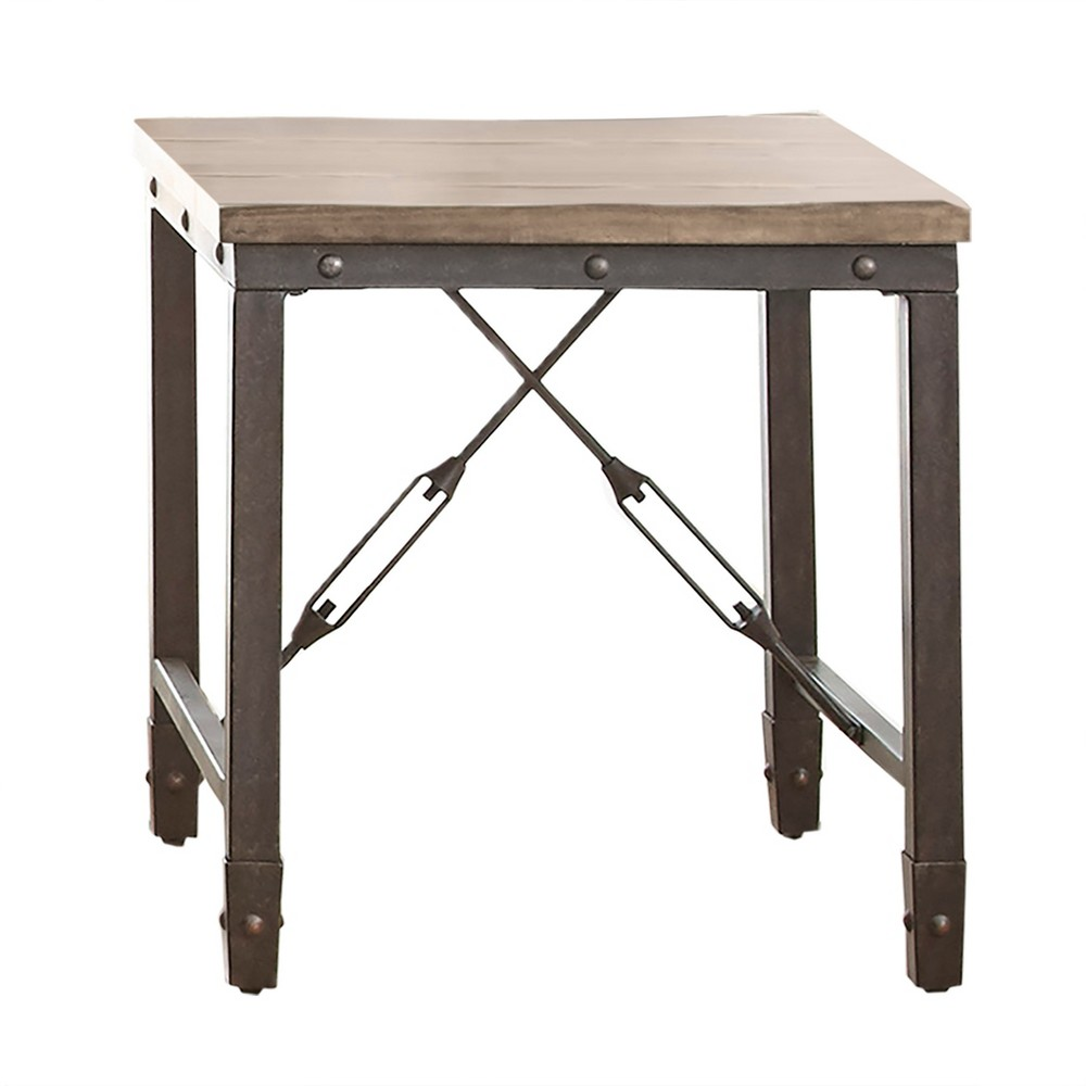 Jersey End Table Antique Oak - Steve Silver, Wet Sand
