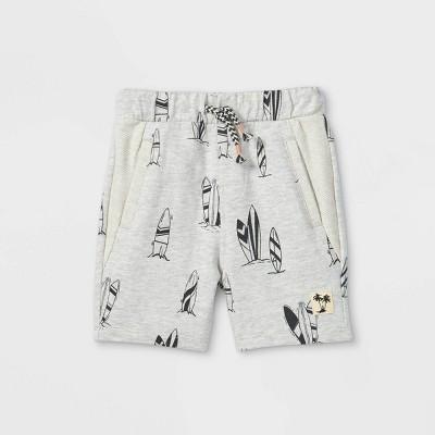 Toddler Boys' Surfboard Pull-On Shorts - art class™ Gray 12M