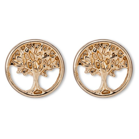 Women's Tree of Life Post Earring - Gold - image 1 of 2