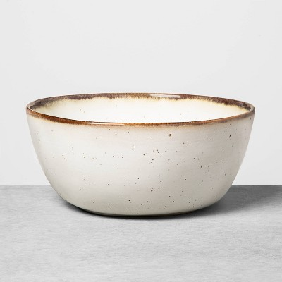 Large Stoneware Reactive Glaze Serve Bowl Sour Cream - Hearth & Hand™ with Magnolia