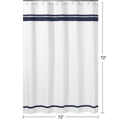 Hotel Shower Curtain White - Sweet Jojo Designs