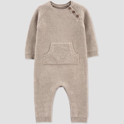 Baby Knit Sweater Jumpsuit - Just One You® made by carter's Beige 6M