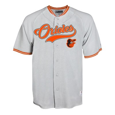 quality design a30a3 0fd6a MLB Baltimore Orioles Gray Retro Team Jersey