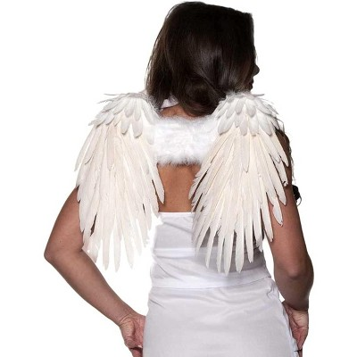 Underwraps Feather Wings One Size Adult Costume Accessory | White