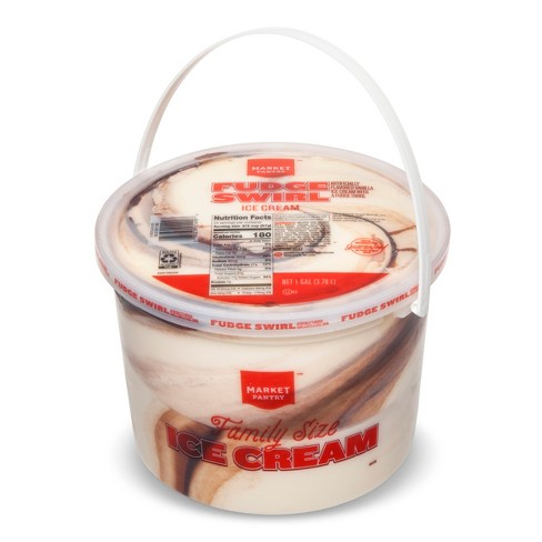 Fudge Swirl Family Size Ice Cream - 128oz - Market Pantry™ - image 1 of 1