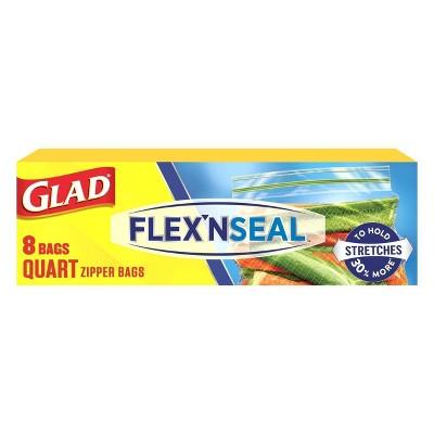 Glad Flex'N Seal Quart Travel Bags - 8ct