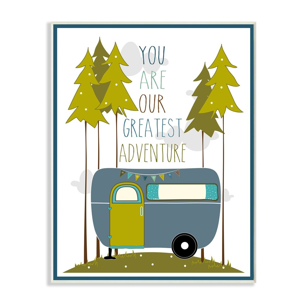 You Are Our Greatest Adventure Art Wall Plaque Blue/Green Wall Plaque Art (10x15