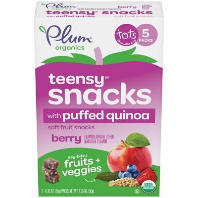 Plum Organics Teensy Crisps Mixed Berry Spinach and Quinoa Baby Snacks - 8ct/1.75oz Each