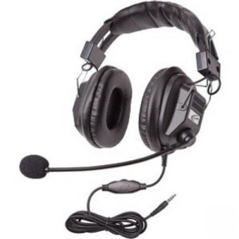 Califone 3068-style Headset w/ Boom Mic - Volume control, 3.5mm - image 1 of 1