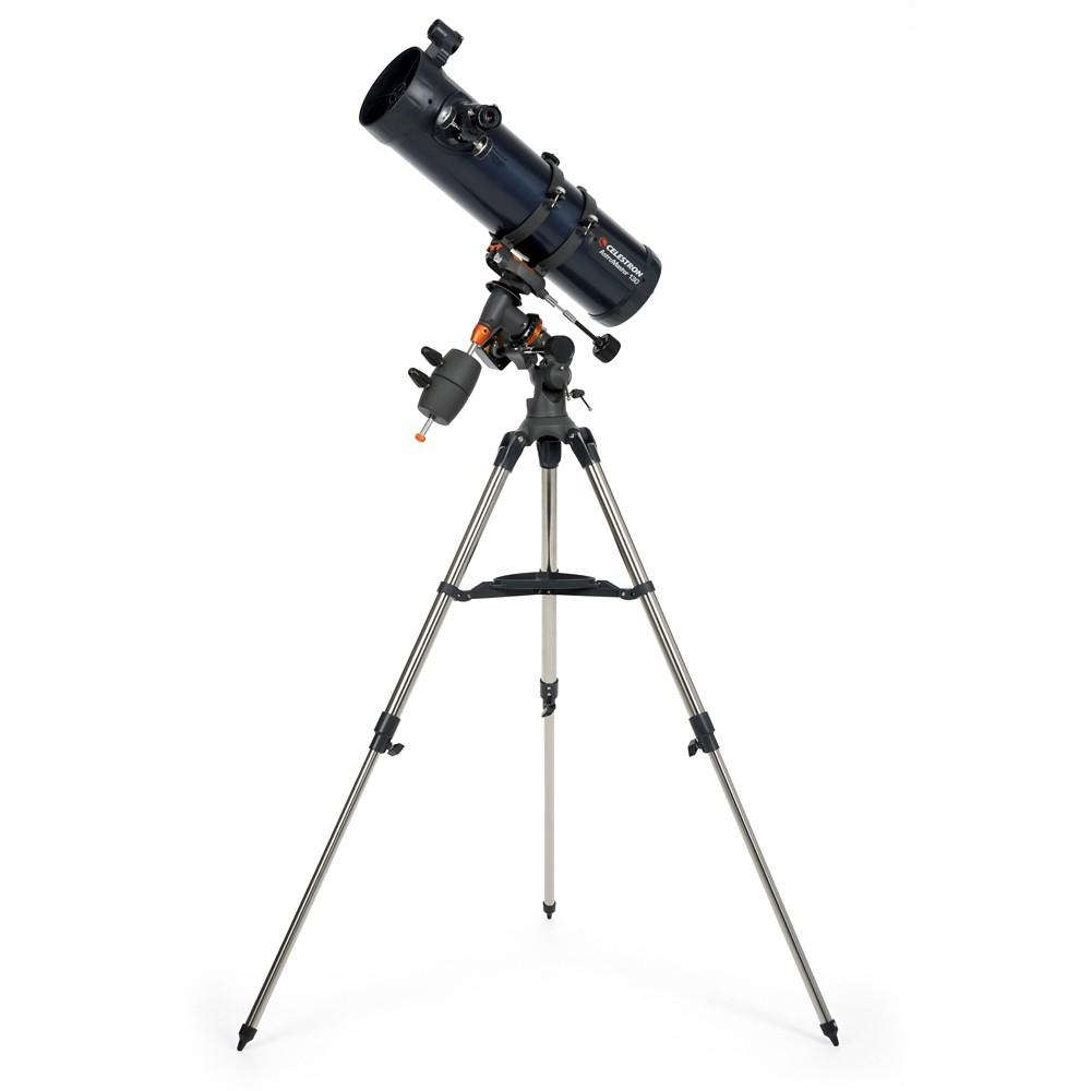 Celestron AstroMaster 130EQ Newtonian with Motor Telescope, Black