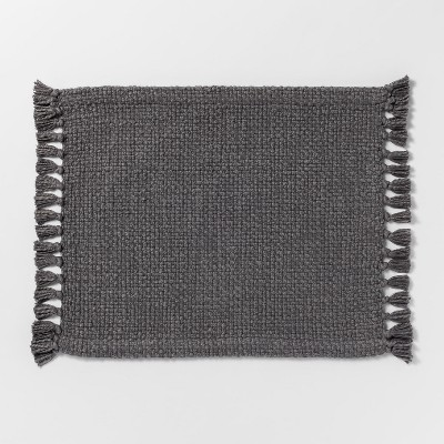 19 x14  Basket Weave Placemat Gray - Threshold™