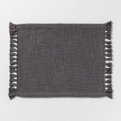 """19""""x14"""" Basket Weave Placemat Gray - Threshold™"""