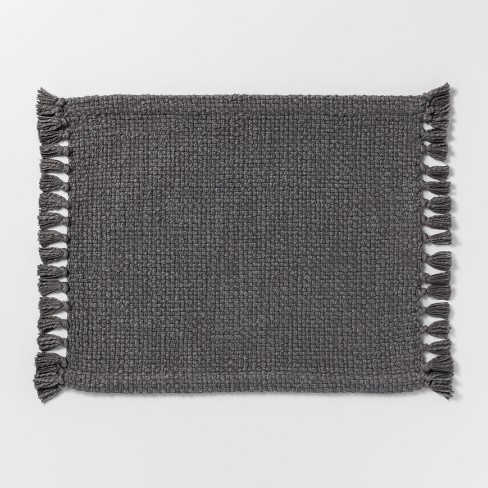 Gray Basket Weave Placemat - Threshold™ - image 1 of 1