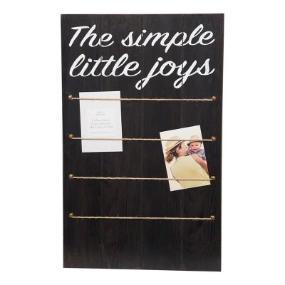 Multiple Image Simple Joys Rope Clips Collage Frame - Gallery Solutions