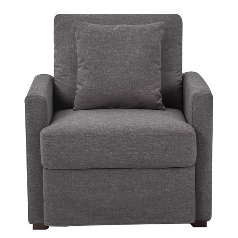 Boston Chair Dark Grey - Lifestyle Solutions - image 1 of 2