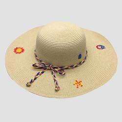 28a87b890be52e Girls' Printed Star Paper Straw Fedora - Cat & Jack™ Natural One Size. $9.99