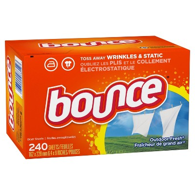 Bounce Outdoor Fresh Fabric Softener Dryer Sheets - 240ct