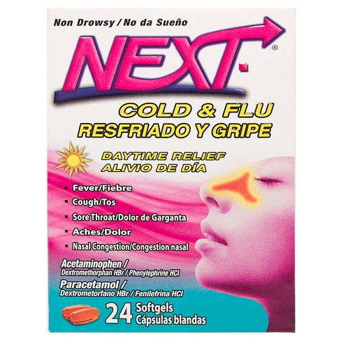 NEXT Cold & Flu Daytime Relief Non-Drowsy Softgels - 24ct - image 1 of 3