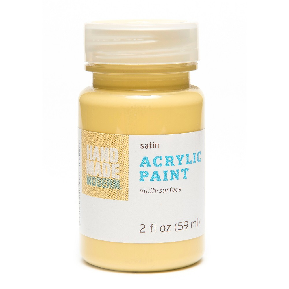 Image of 2oz Satin Acrylic Paint - Honey Hand Made Modern