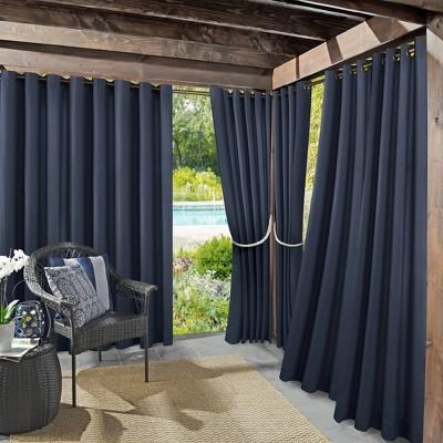 Sailor Indoor/Outdoor UV Protectant Room Darkening Grommet Top Curtain Panel - Sun Zero