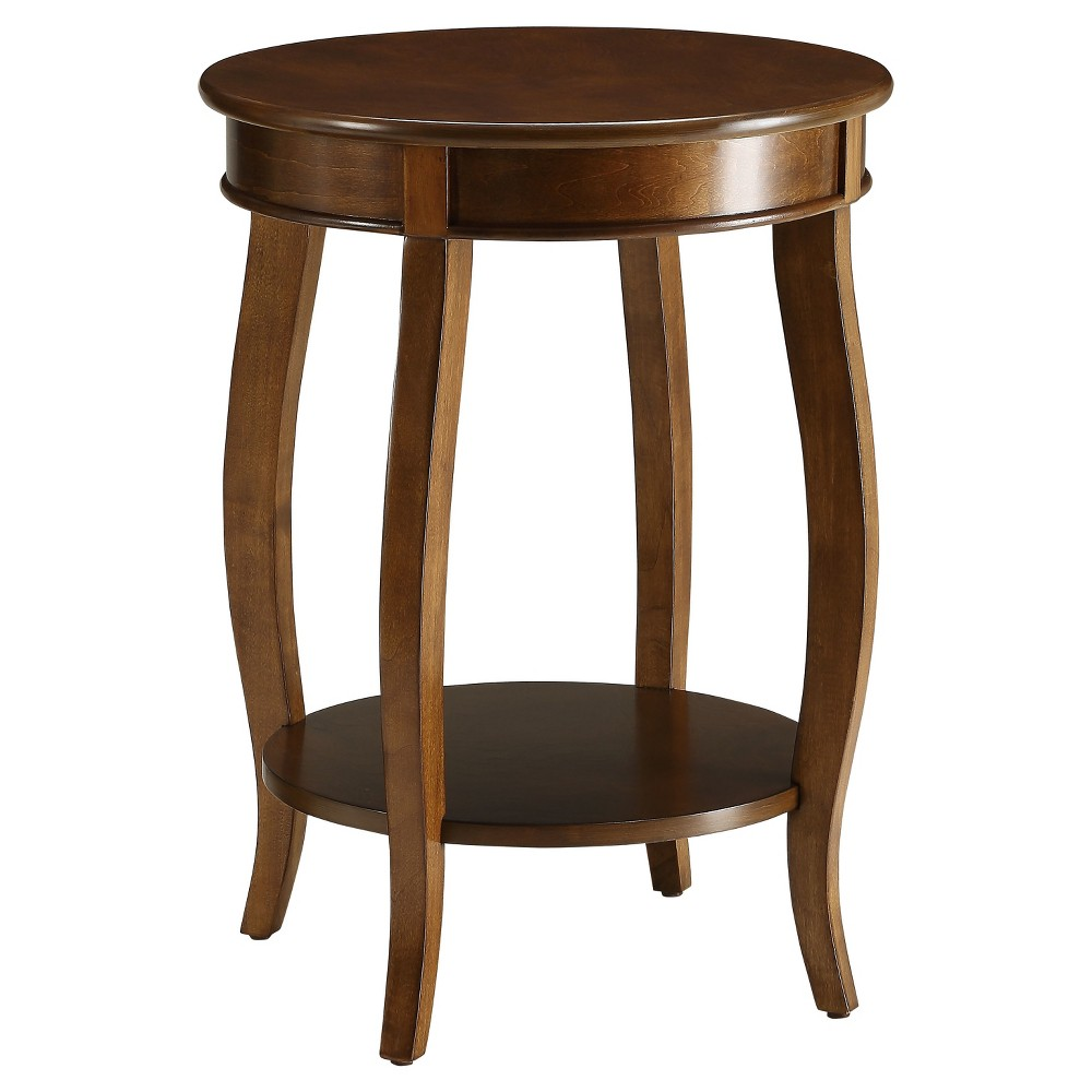 End Table  - Acme Furniture End Table Walnut - Acme Furniture Gender: unisex.