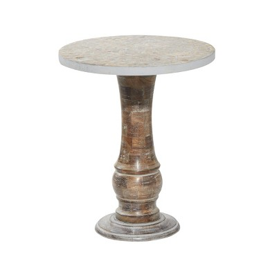 Rustic Mango Wood Accent Table - Olivia & May