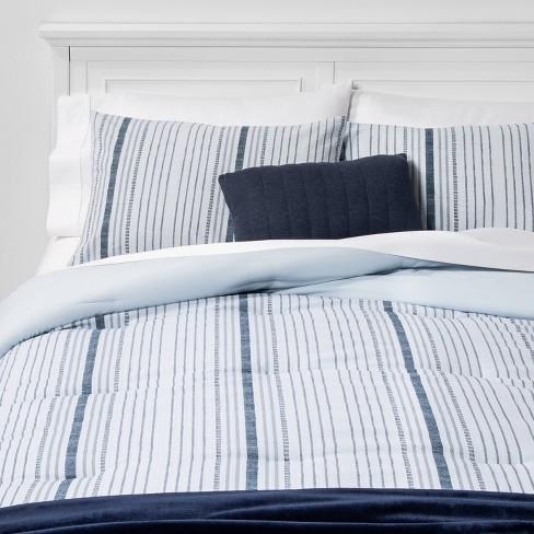 Line Work Stripe Bed in a Bag Blue - Room Essentials™ - image 1 of 4