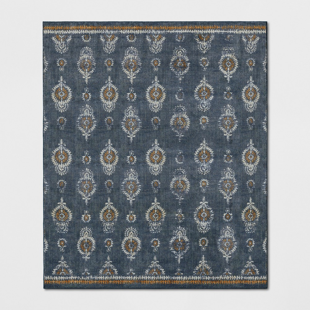 10'X12' Paisley Tufted Area Rugs Navy - Threshold, Blue