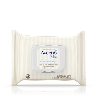 Aveeno Baby Sensitive Skin Baby Wipes - 25ct