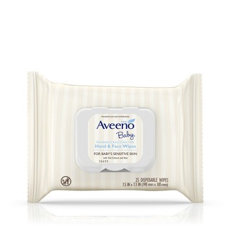 Aveeno Baby Sensitive Skin Baby Wipes - 25ct