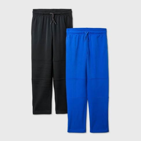 Boys' 2pk Activewear Pants - Cat & Jack™ Black/Blue - image 1 of 1