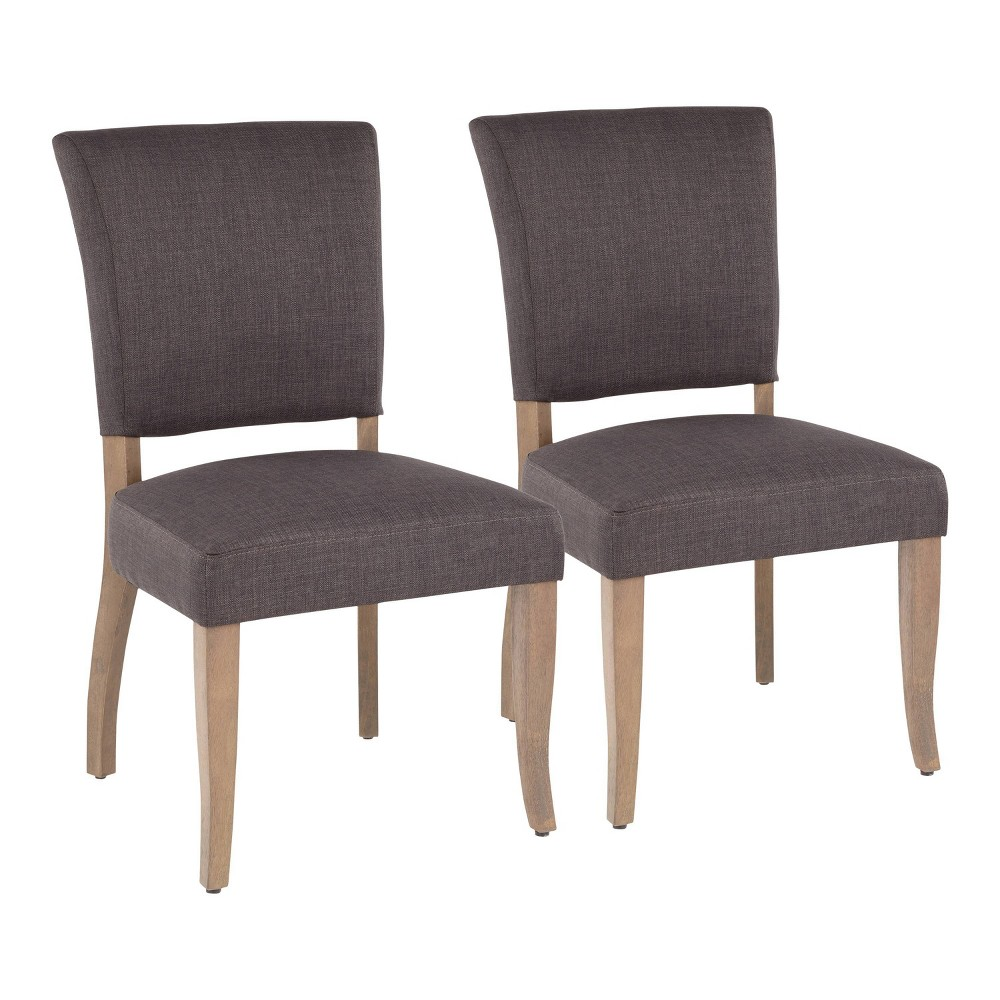 Set of 2 Rita Contemporary Dining Chair Ash Brown/Gray - LumiSource
