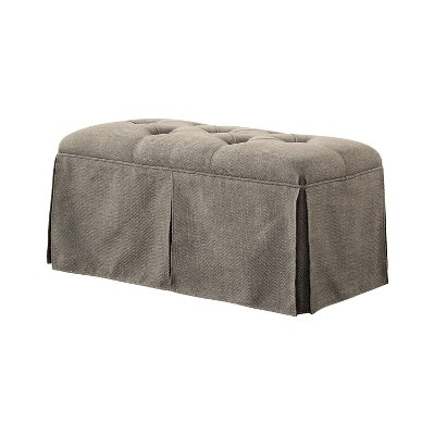 Furman Transitional Button Tufted Fabric Storage Ottoman - HOMES: Inside + Out