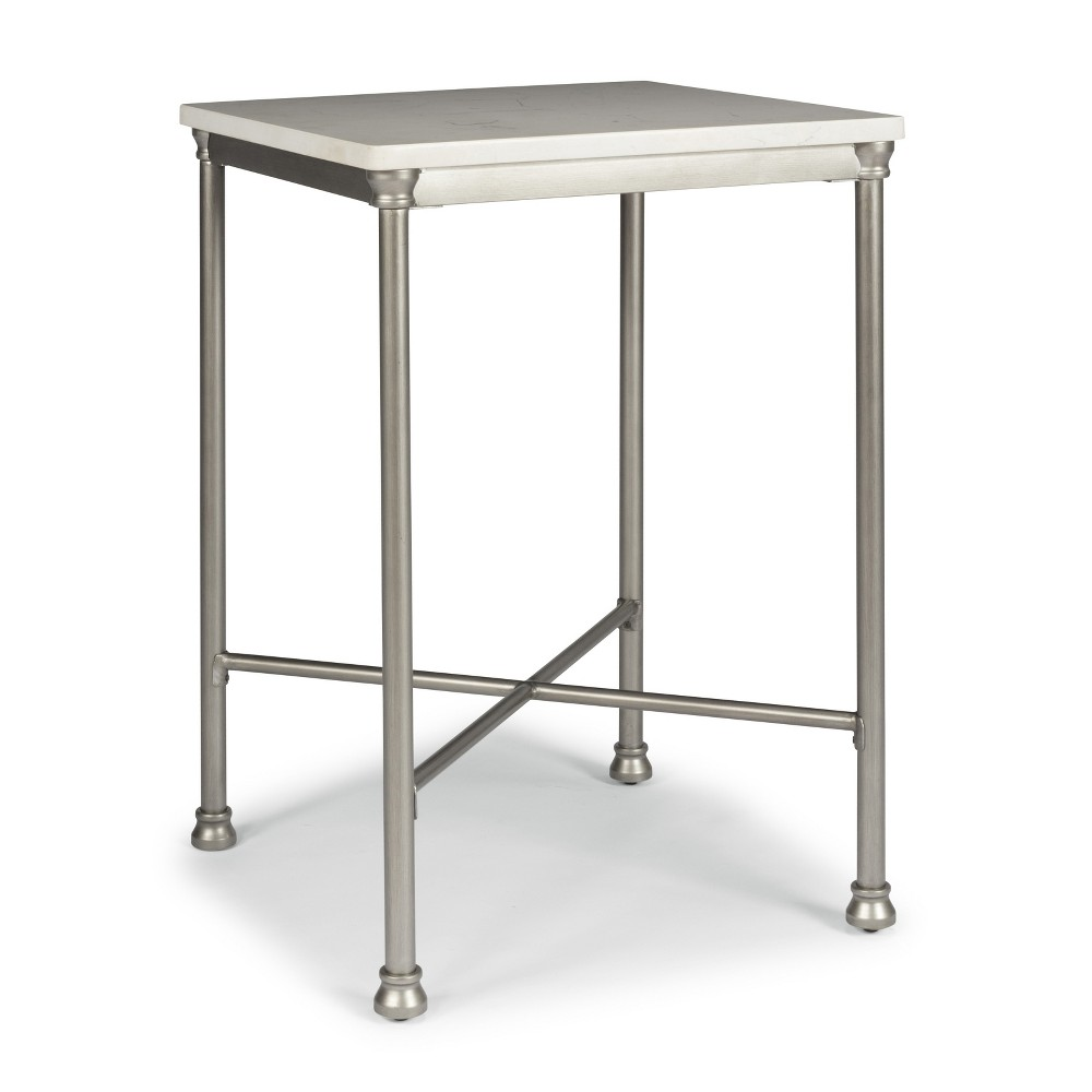 Orleans Bar Table White Marble Top/Grey- Home styles, White Marble Top/Gray