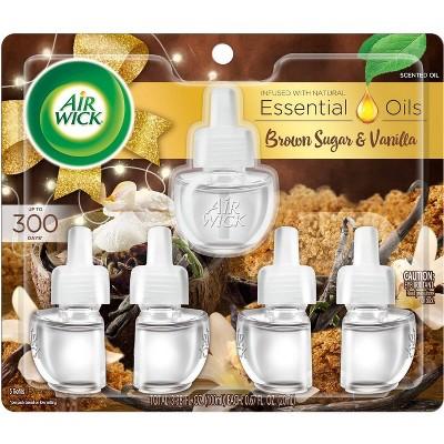 Air Wick Scented Oil Refill Air Freshener - Brown Sugar & Vanilla - 5pk/3.38oz