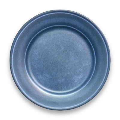 "10.5"" Melamine and Bamboo Dinner Plate Dark Blue - Threshold™"